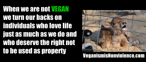 Don't turn your back. Go vegan