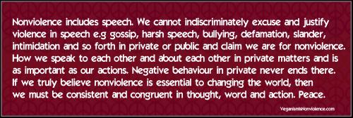 nonviolence in speech