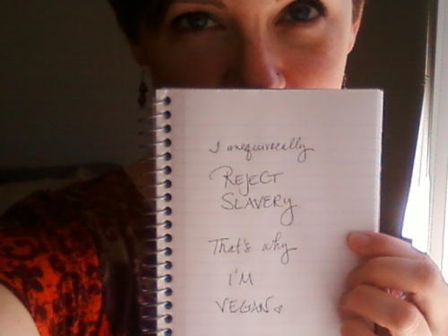 "Auti ""I unequivocally reject slavery, that's why I'm vegan"""