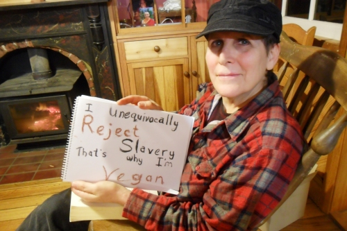 """Dede """"I unequivocally reject slavery, that's why I'm vegan"""""""