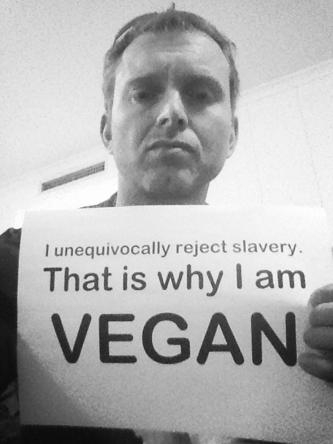 "Gary ""I unequivocally reject slavery, that's why I'm vegan"""