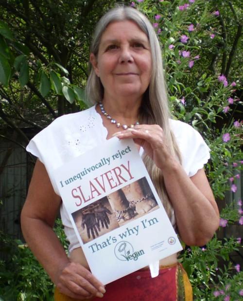 "Josephine ""I unequivocally reject slavery, that's why I'm vegan"""