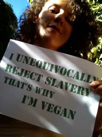 "Sole ""I unequivocally reject slavery, that's why I'm vegan"""