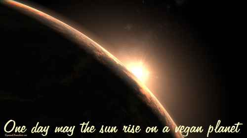 May the sun one day rise on a vegan planet