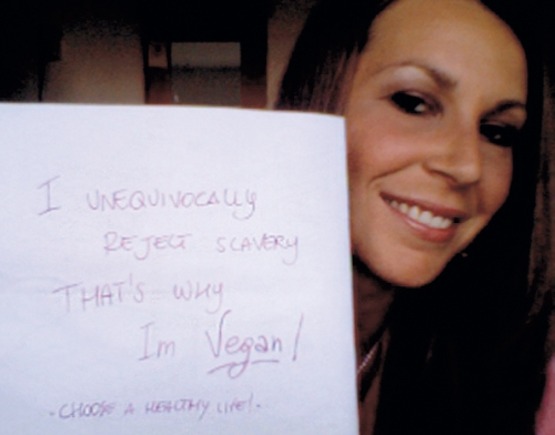 "Valentina ""I unequivocally reject slavery that's why I'm vegan"""