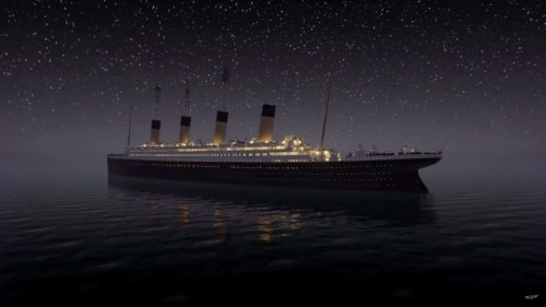 titanic real time sinking screengrab